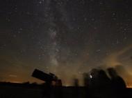 Observacion con telescopio Astronomico en el Castell de Mur