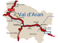 Mapa Vall d'Aran