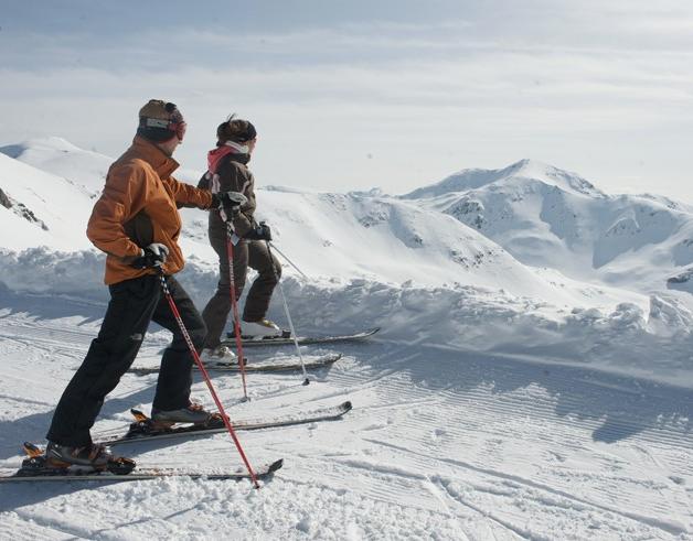 esquia en parella