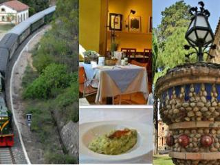 Composició fotos tren, restaurant i visites pack regal plus